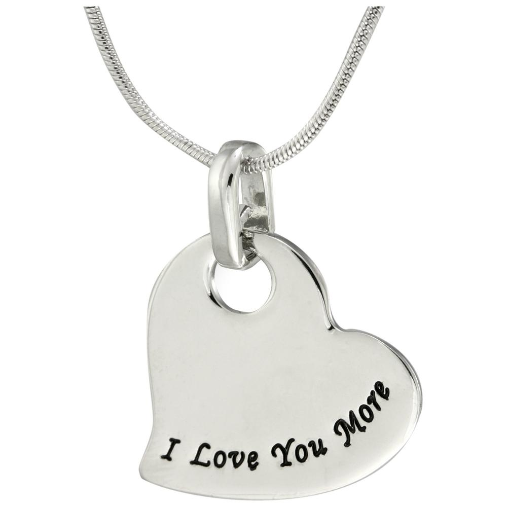 i love you more heart necklace the hunger site