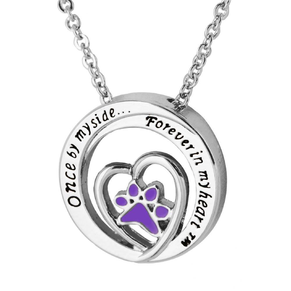 purple mx pendant me flower heart plated forget b products gold not necklace