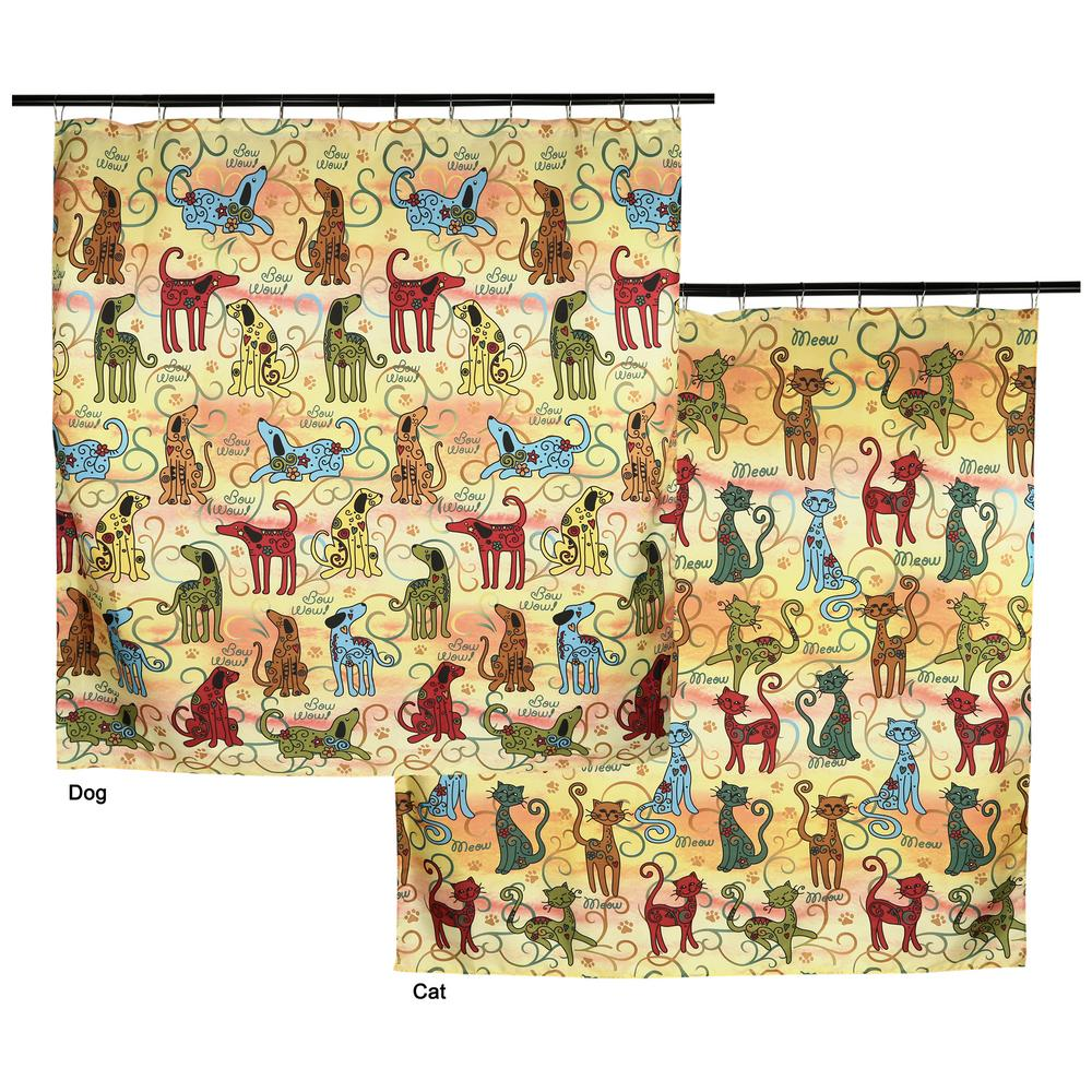 Festival Pets Shower Curtain : The Animal Rescue Site