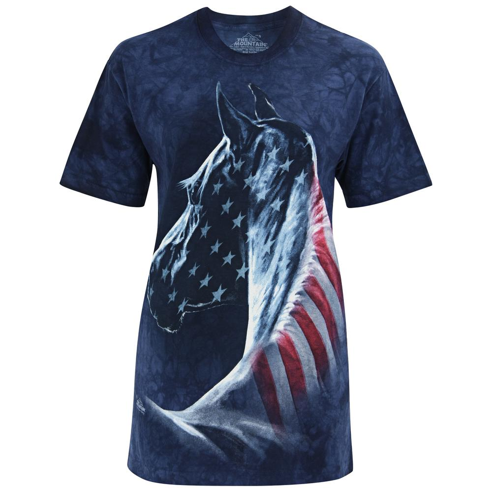 Patriotic horse t shirt the veterans site for Veteran t shirts patriotic t shirts