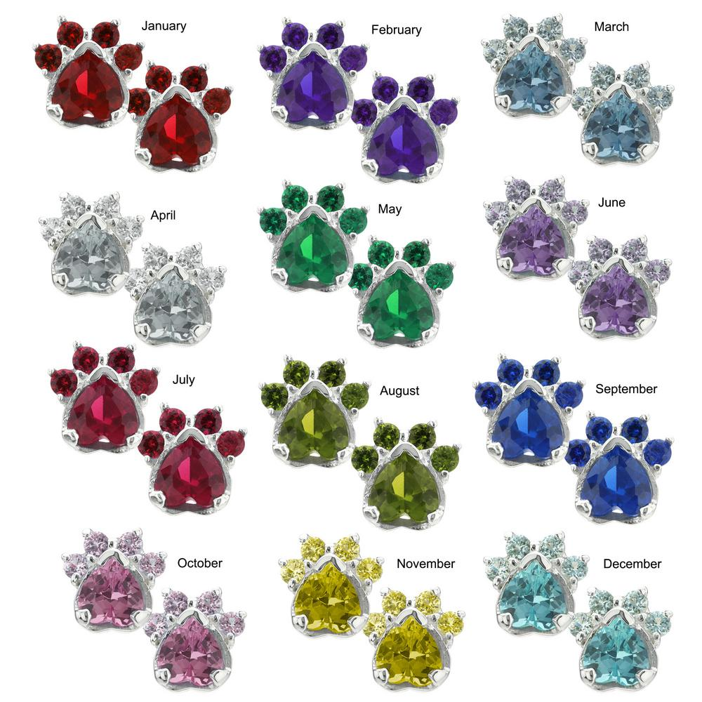 the lab tap site earrings birthstone paw rescue item store animal print ars