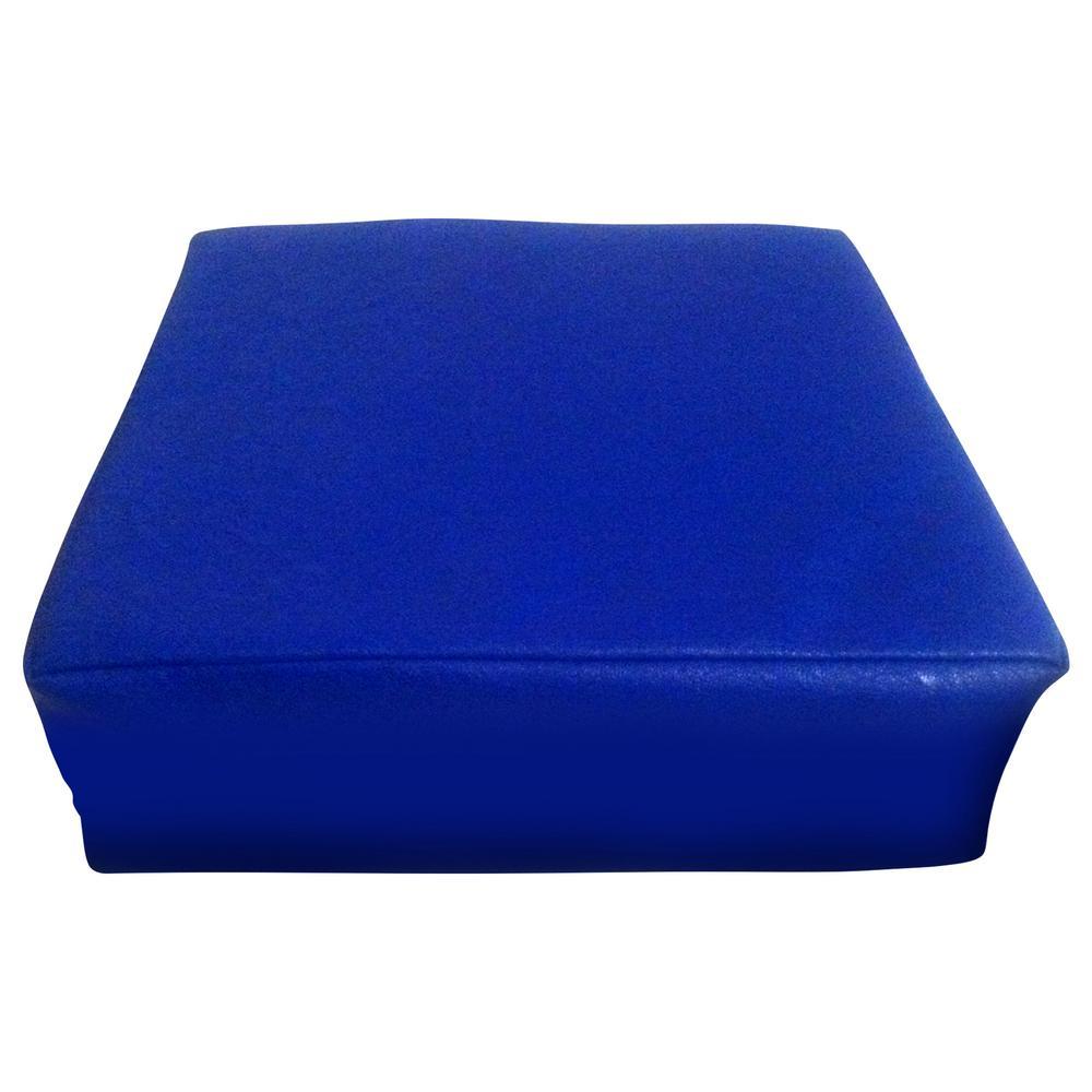 Vibrating Animal Pillow : Senseez Vinyl Vibrating Pillow - Blue Square : The Animal Rescue Site