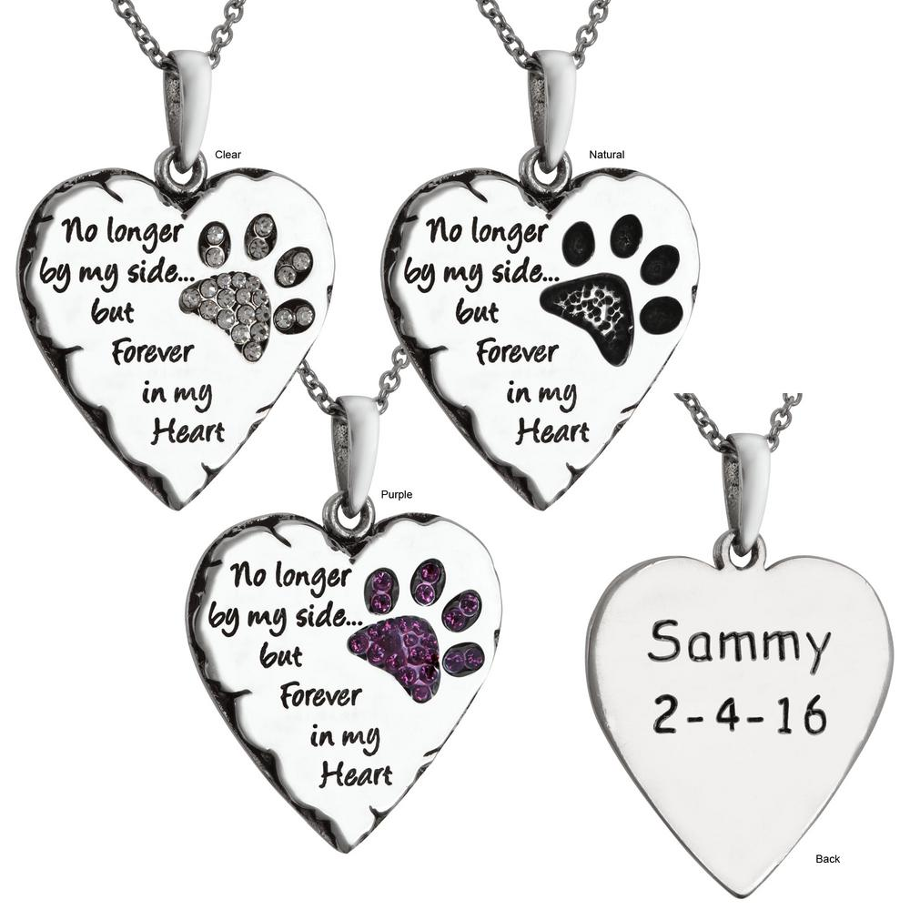 Forever in my heart necklace personalized the animal rescue site tap aloadofball Choice Image