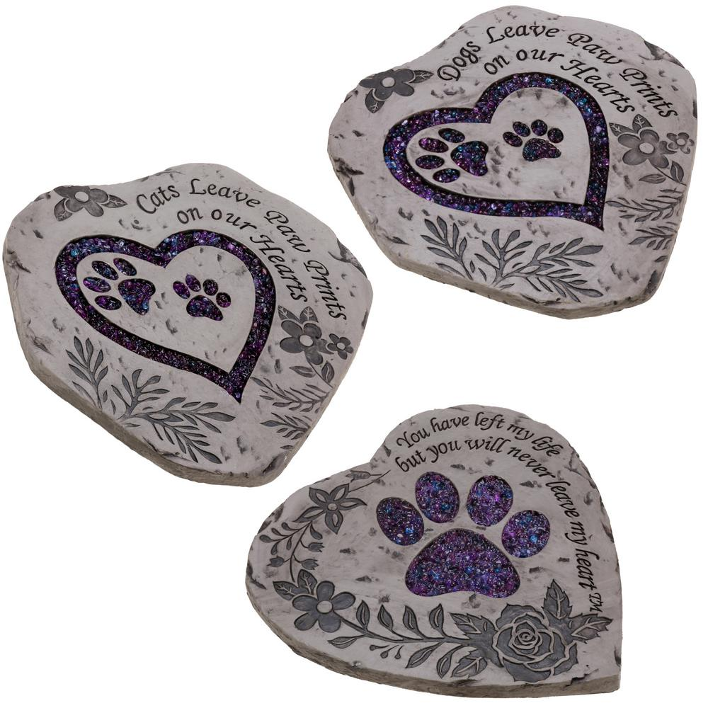 Pet Garden Stones Paw prints garden stepping stone collection the animal rescue site workwithnaturefo