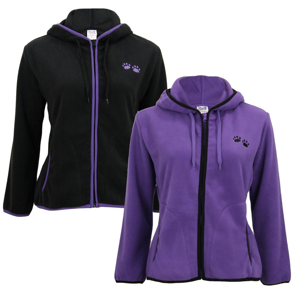 Purple Paw Trimmed Polar Fleece Jacket : The Animal Rescue Site