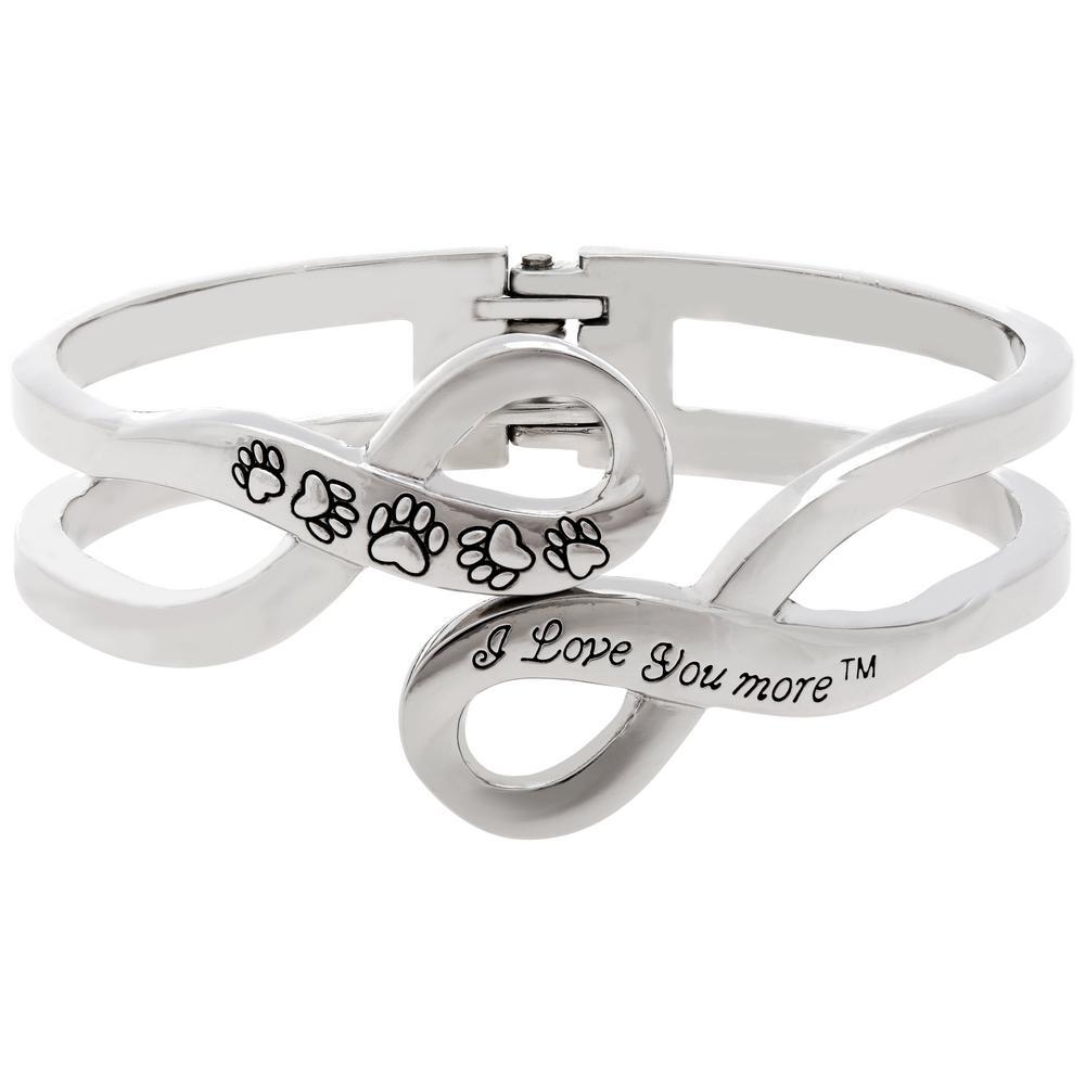 I love you more paw print infinity bracelet the animal rescue site tap buycottarizona Choice Image