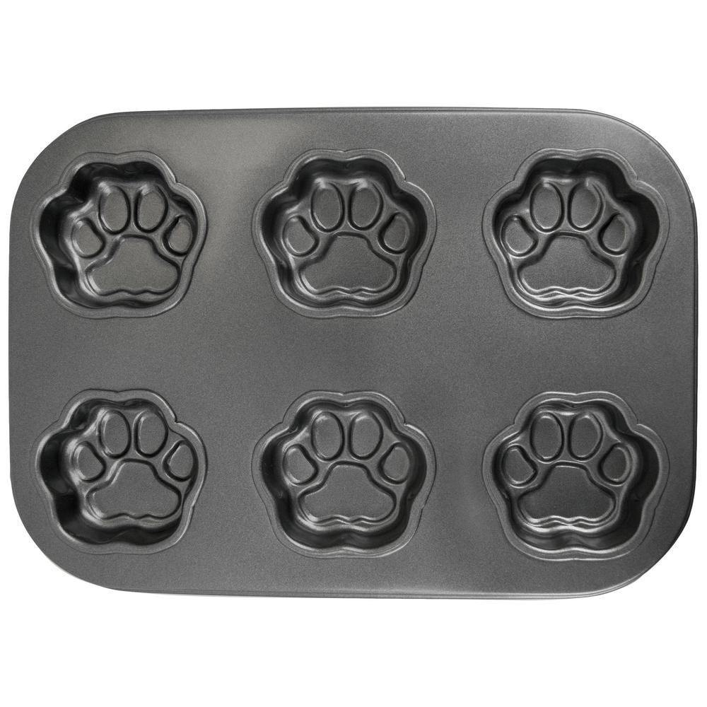 Paw Print Muffin Pan : The Animal Rescue Site