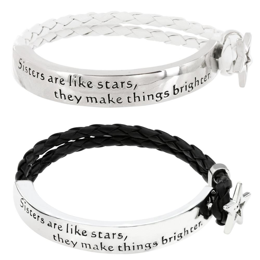 Sisters Are Like Stars Braided Bracelet : The Hunger Site