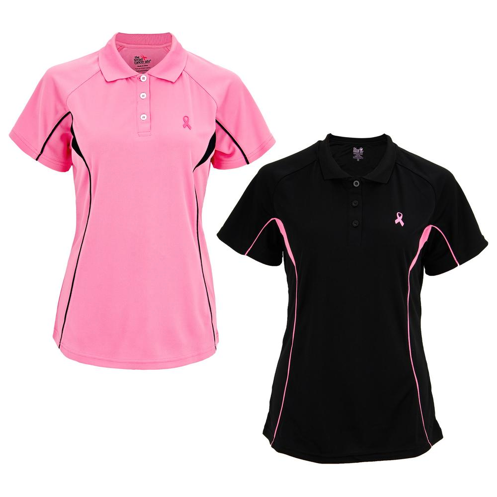 Pink Ribbon Quick-Dry Polo Shirt : The Breast Cancer Site