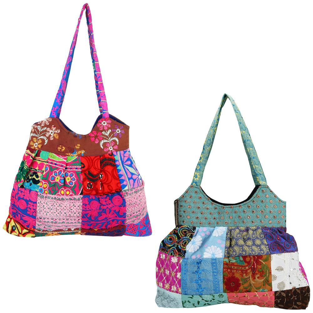 Life's Mosaic Embroidered Patchwork Bag : The Animal ...