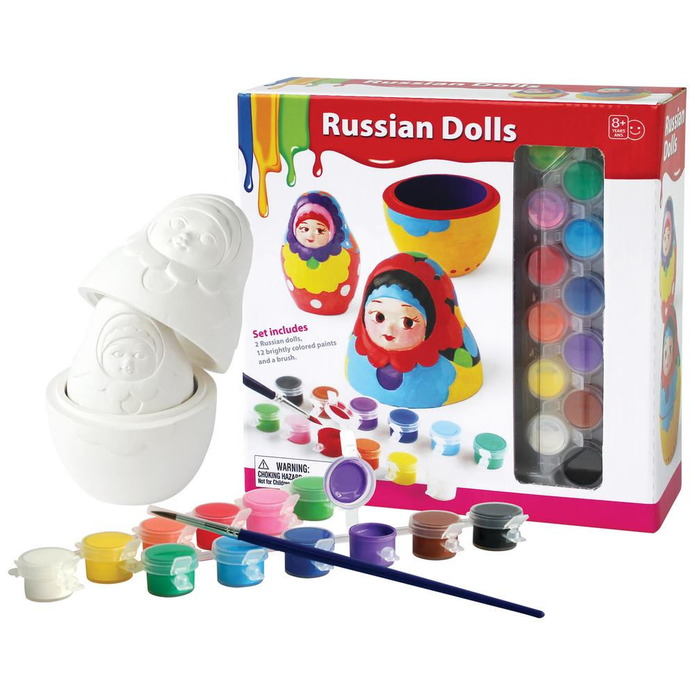 Paint your own russian nesting dolls kit creative kidstuff tap sciox Images