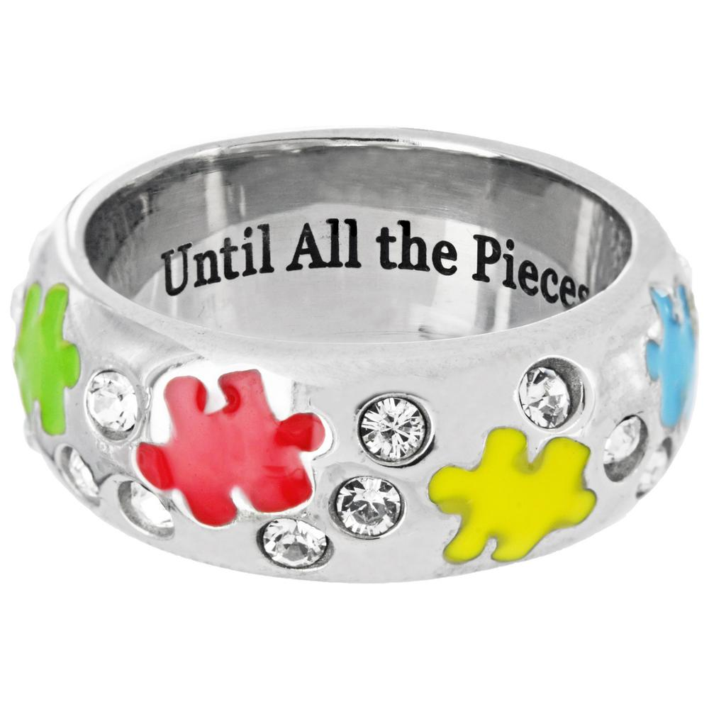 Until the Pieces Fit Swarovski Crystal Ring The Autism Site