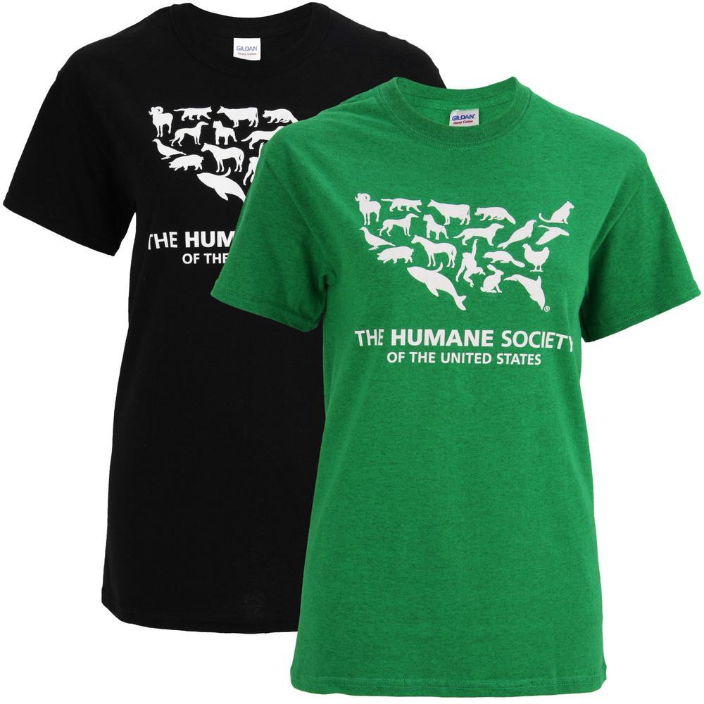 Fabuleux Humane Society of the United States Logo T-Shirt : The Animal  BP47