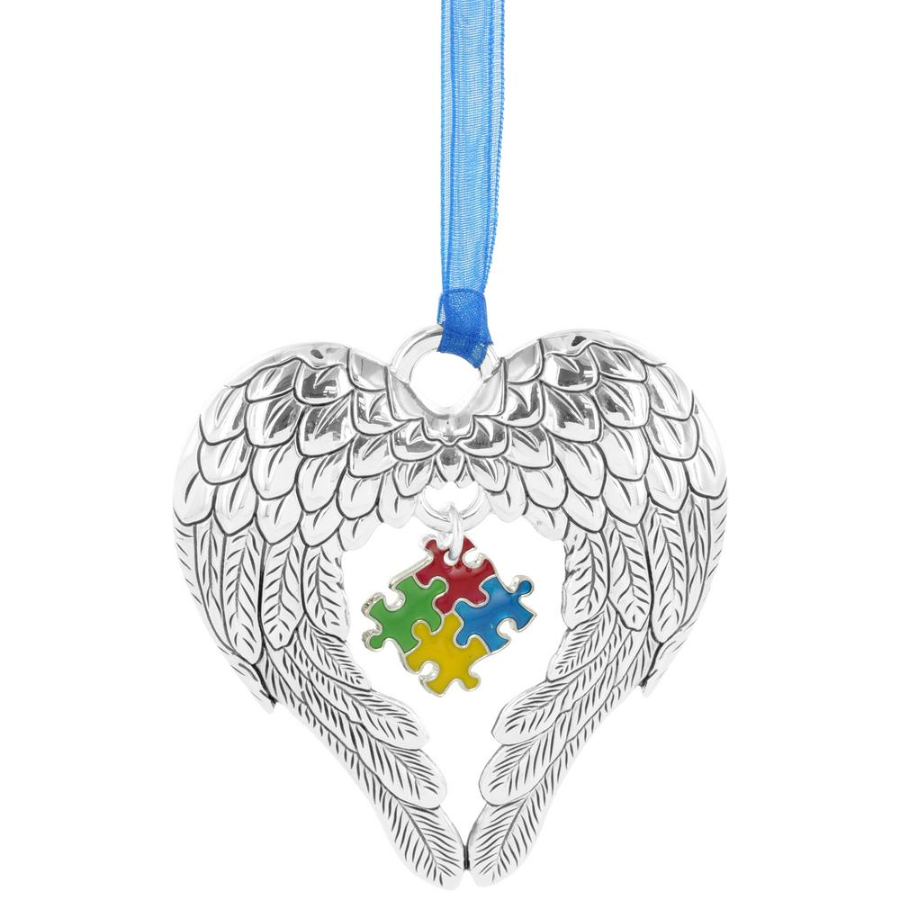 Wings of an Angel Puzzle Piece Ornament : The Autism Site