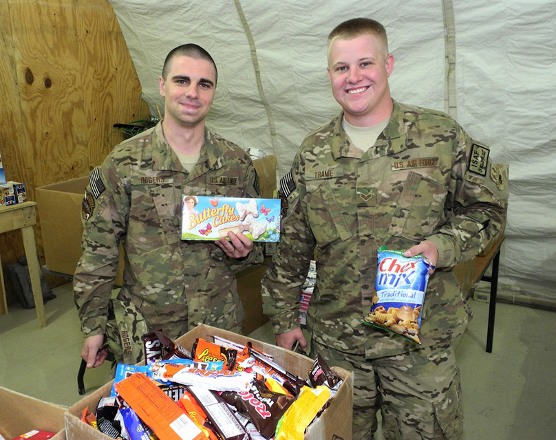 Soldiers Open Care Packages Last Year