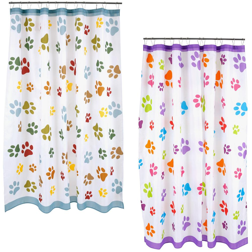 Colorful shower curtain - Tap