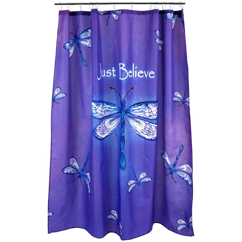 Just Believe Dragonfly Shower Curtain : The Animal Rescue Site