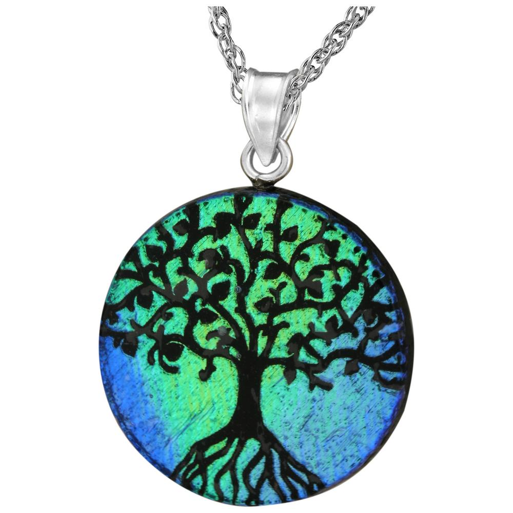 of life shop rose biba necklace silver pendant tree