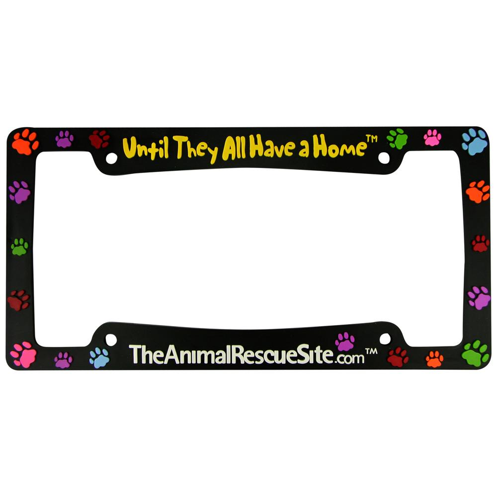 Until They All Have a Home™ License Plate Frame : The Animal Rescue Site
