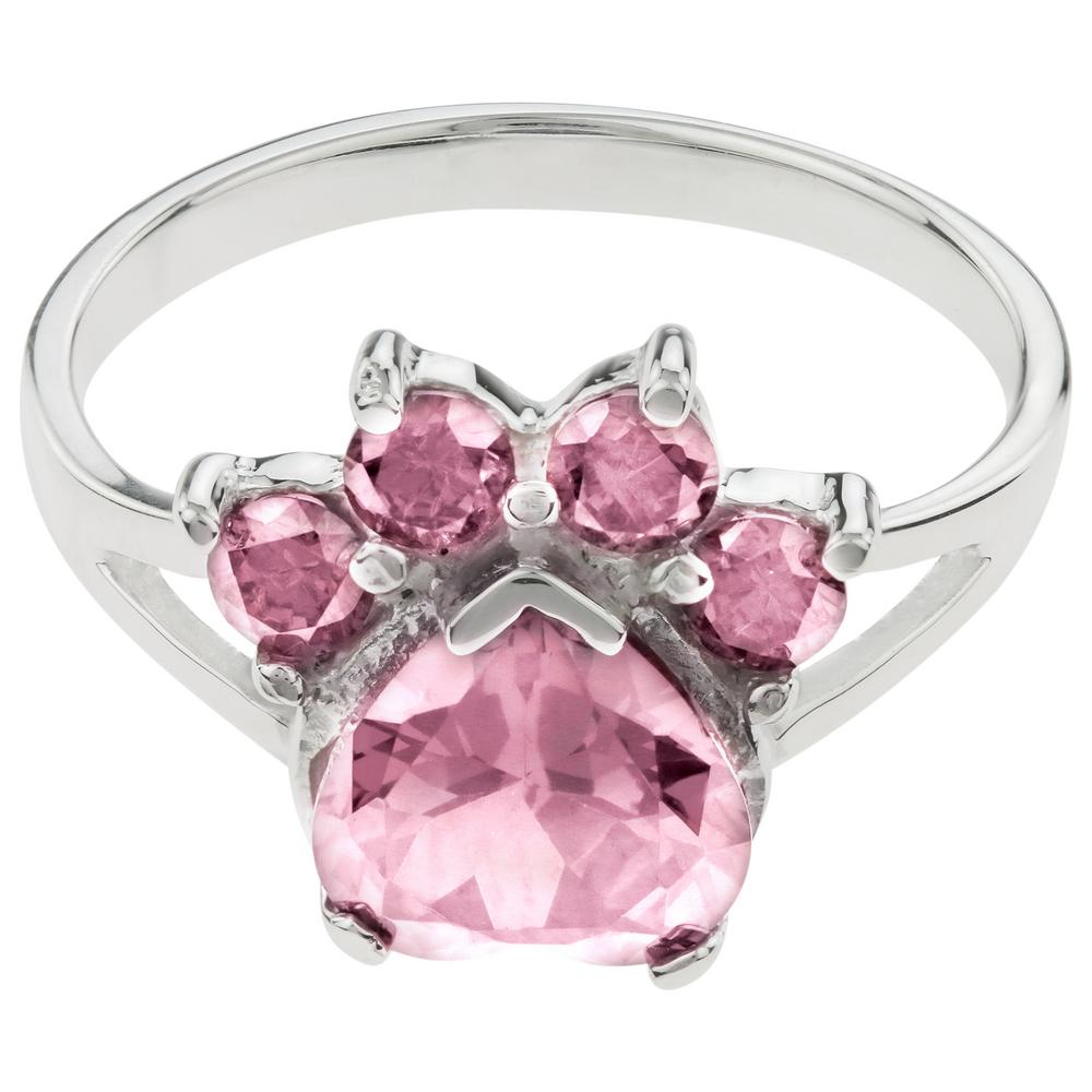 over p gold plated sapphire rings cubic silver ring and pink rose in gemstone zirconia