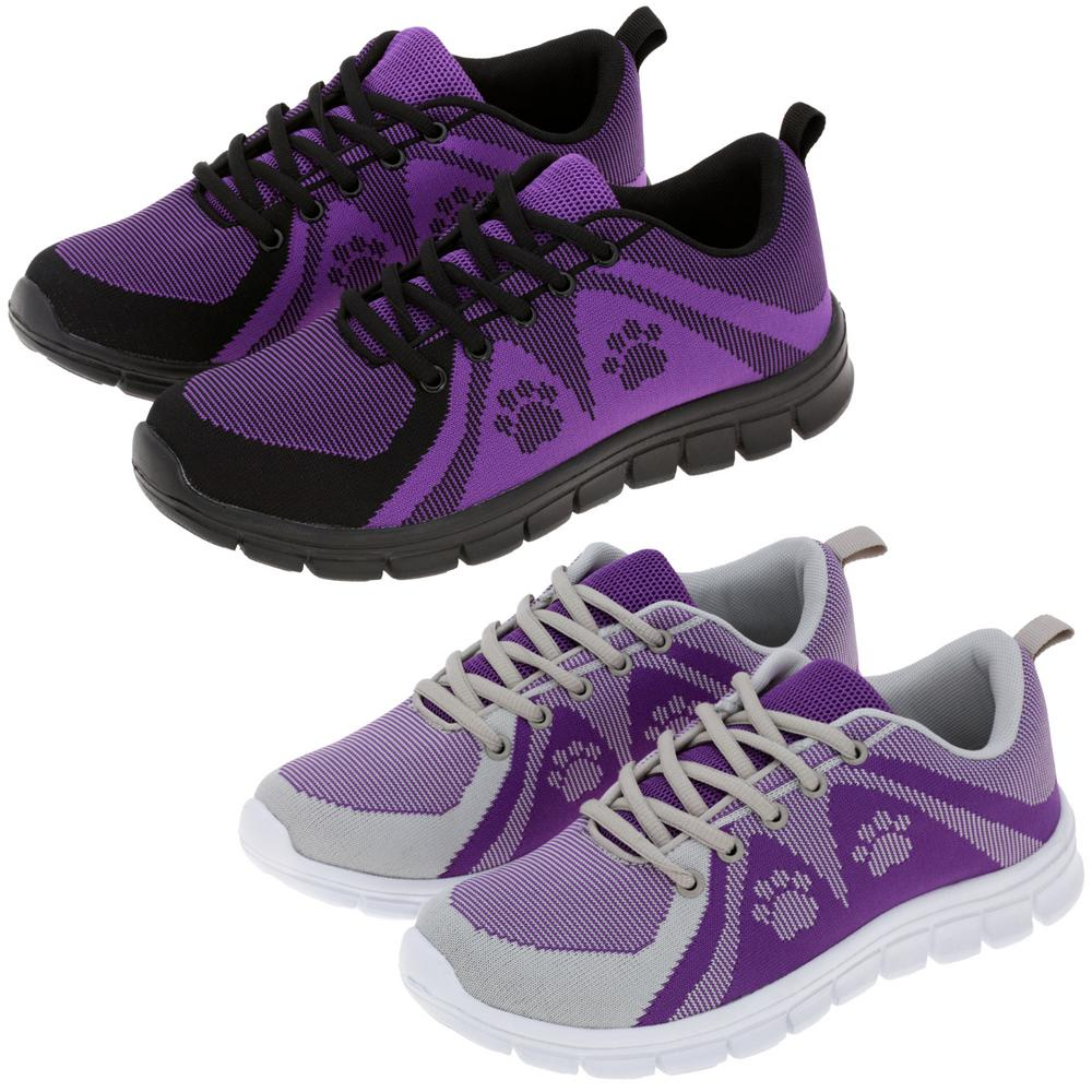Purple Paw Walking Shoes Athletic Sneakers Womens Size 8 Animal Rescue Site