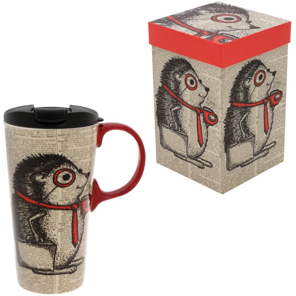 Happy Hedgehog Travel Mug