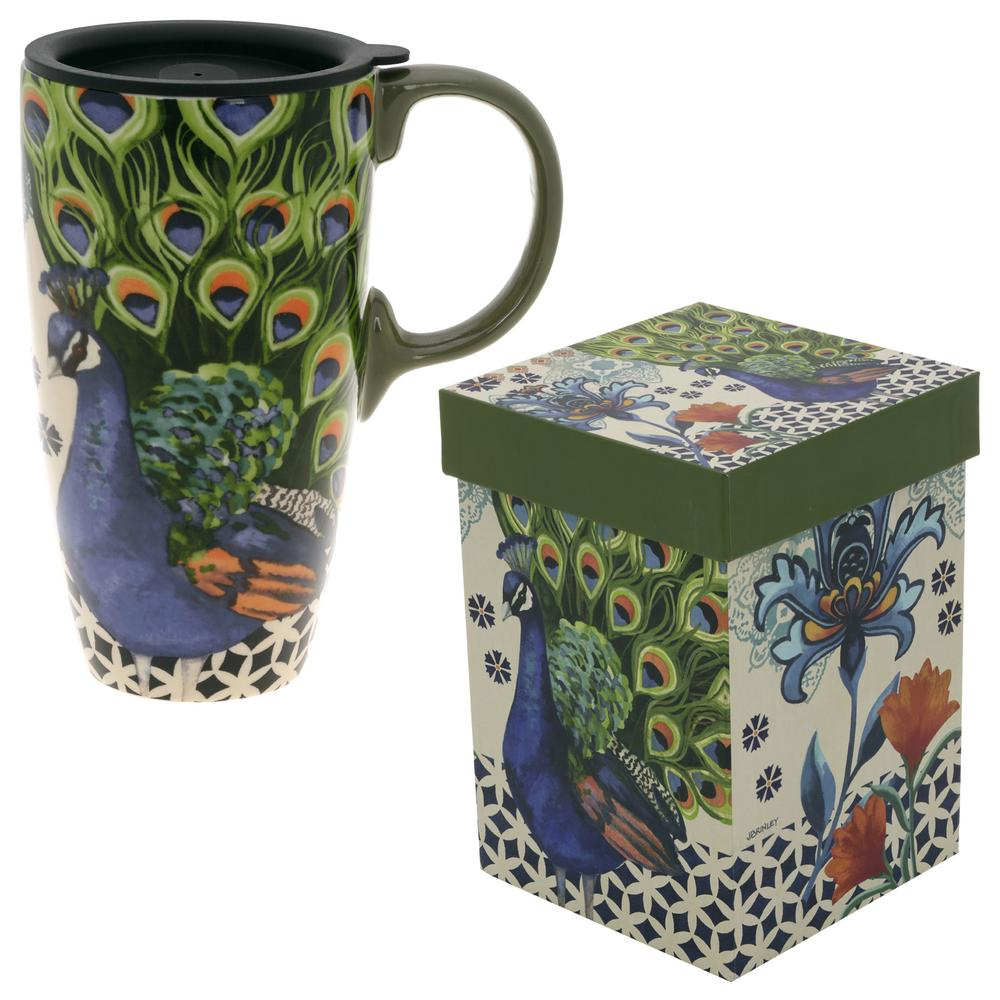 Kashmir Peacock Gift Boxed Travel Mug The Rainforest Site
