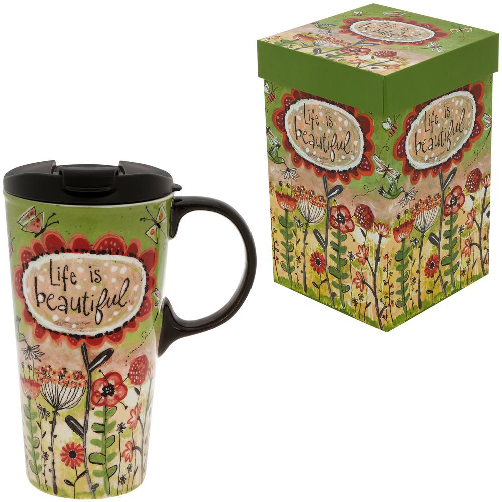 House Beautiful Customer Service Delectable Of Life is Beautiful Ceramic Travel Mug : Hope Faith Love Images