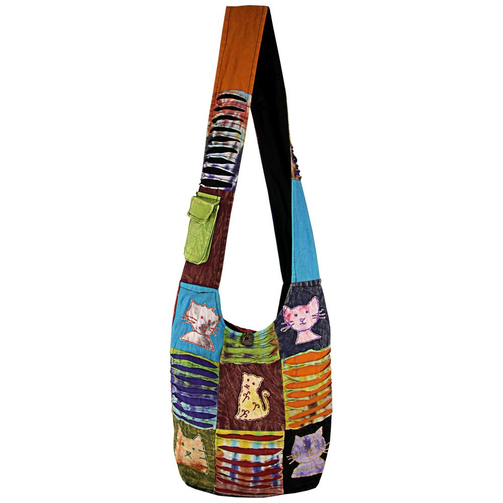 Patchwork Cat Sling Bag : The Animal Rescue Site