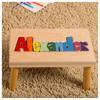 Personalized Name Puzzle Stool Maple Creative Kidstuff