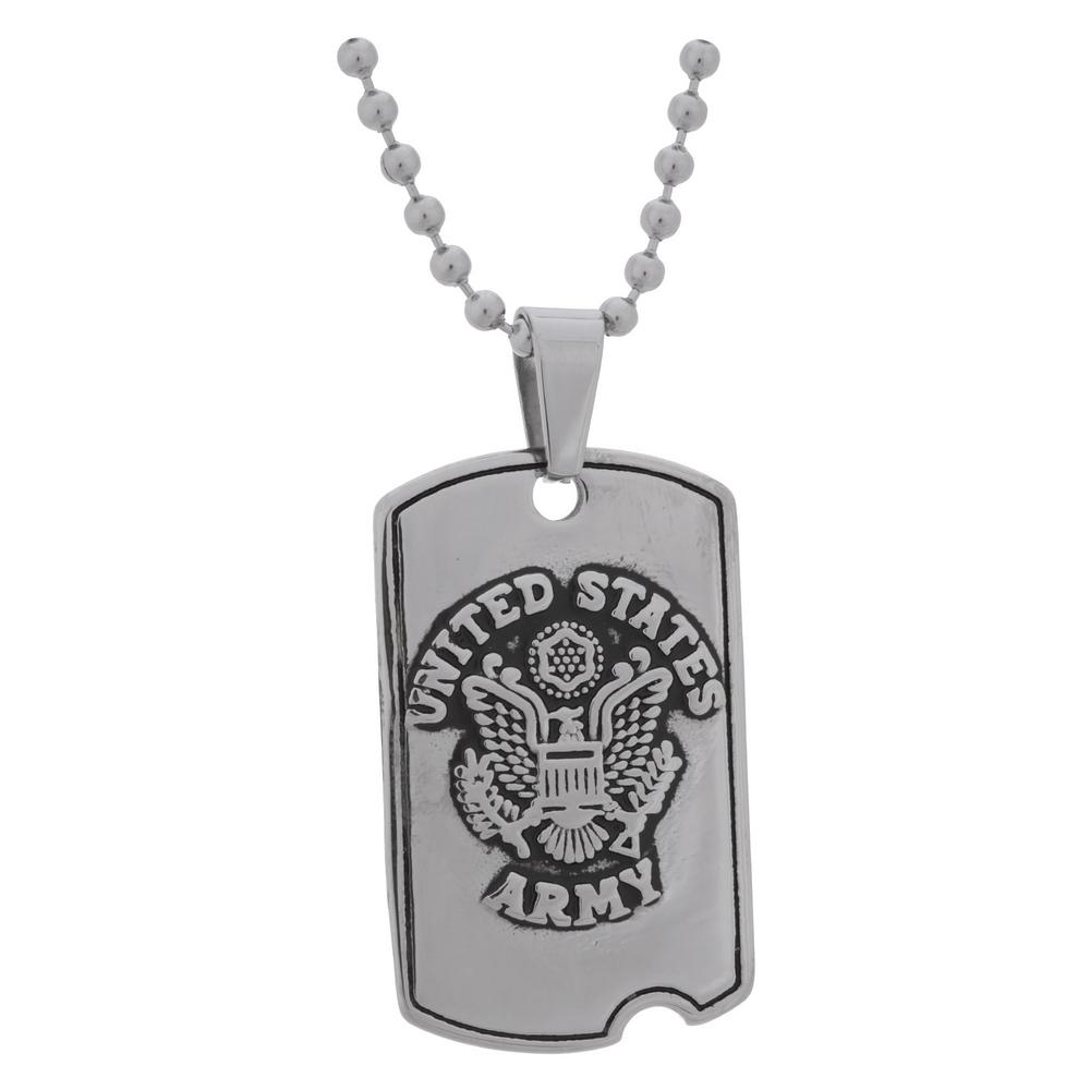 st com quot dp steel curb silver stainless army michael chain carpenters amazon pendant sterling heavy with