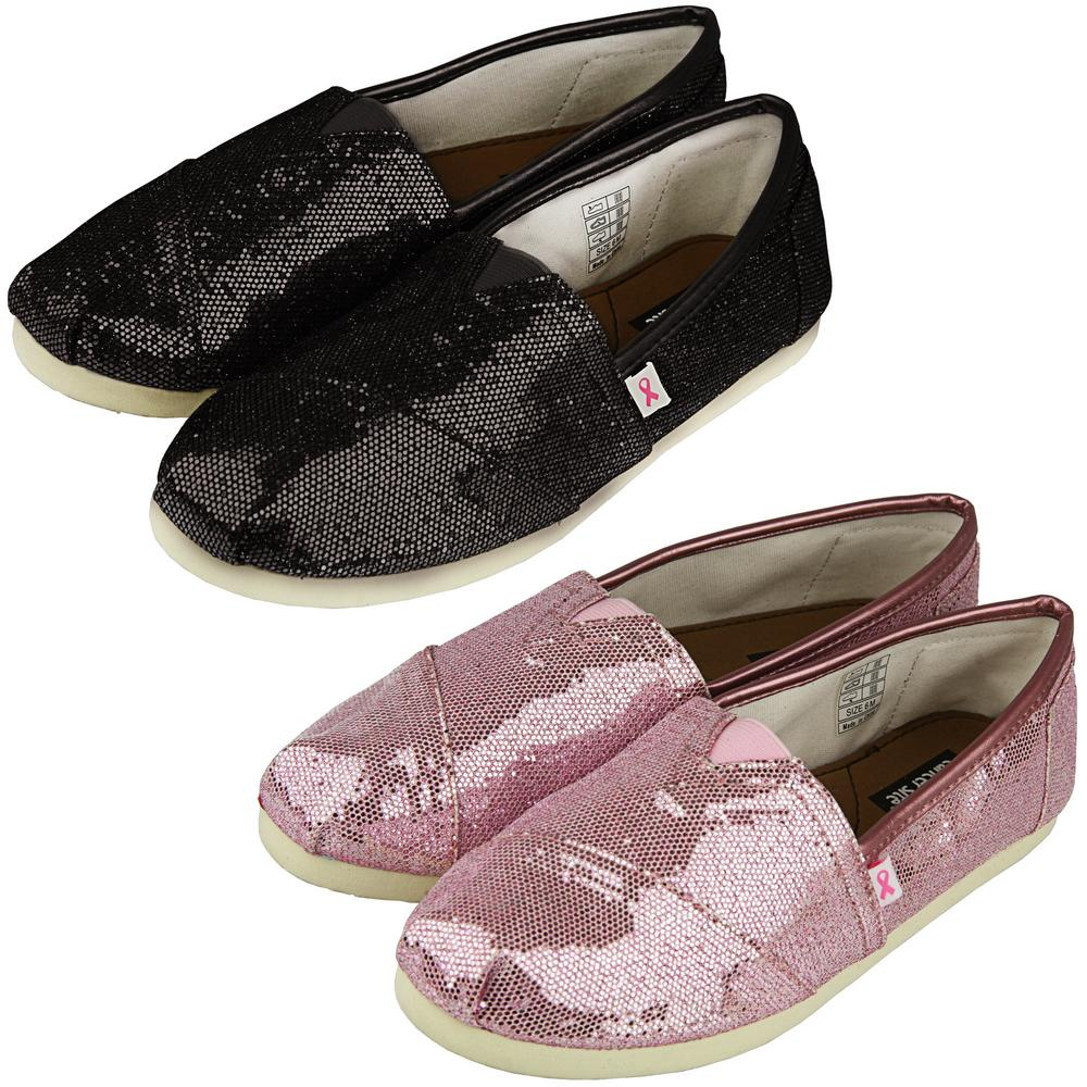 greg s pink ribbon glitter canvas shoes the animal