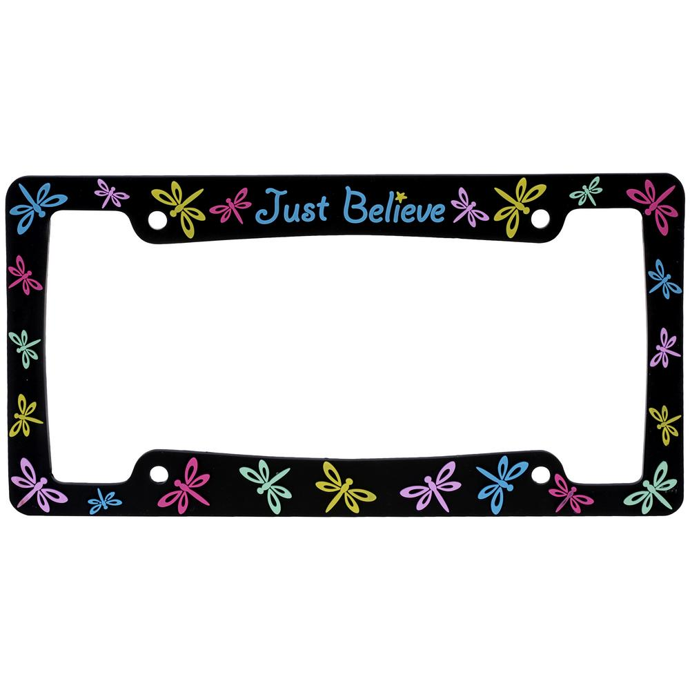 Just Believe™ License Plate Frame : The Autism Site