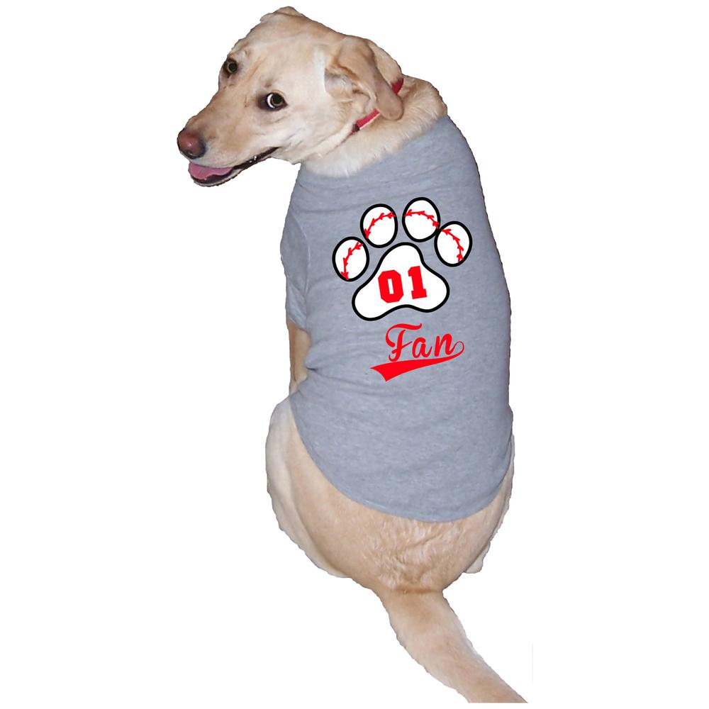 Dog With Fan : Baseball fan dog tee the hunger site