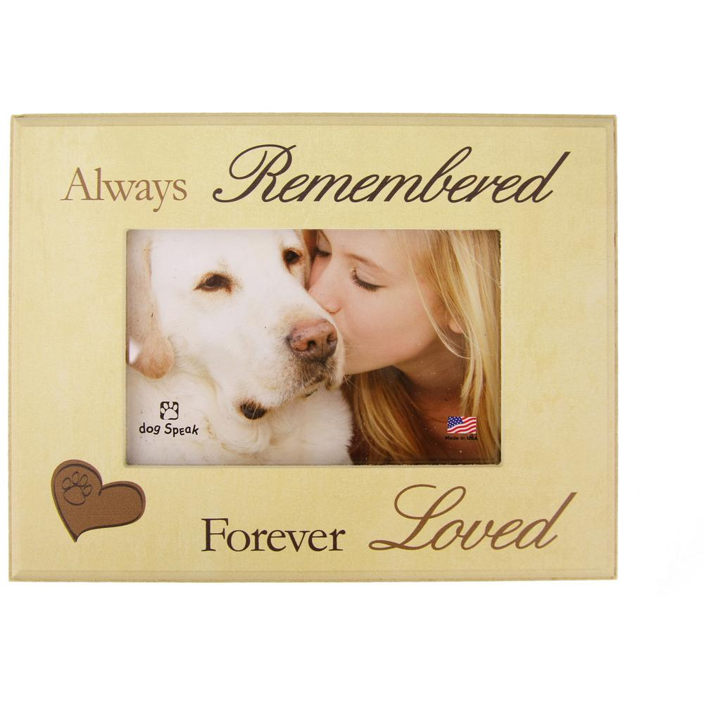 Always Remembered Forever Loved Photo Frame : The Animal Rescue Site