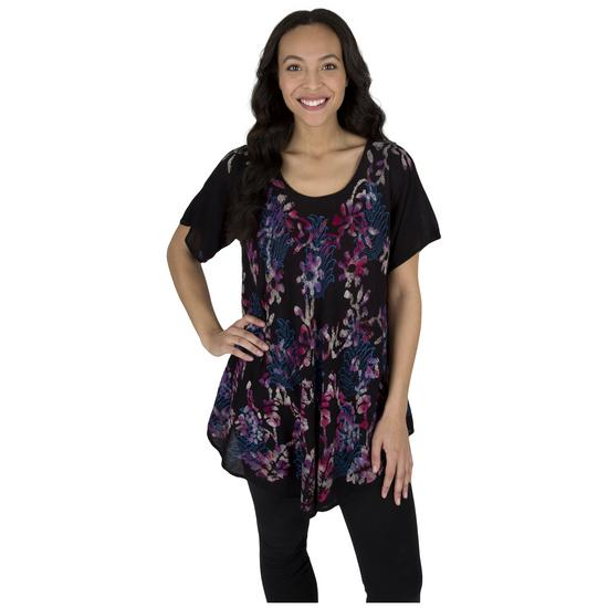 9865e3c8a3eb Midnight Garden Short Sleeve Tunic