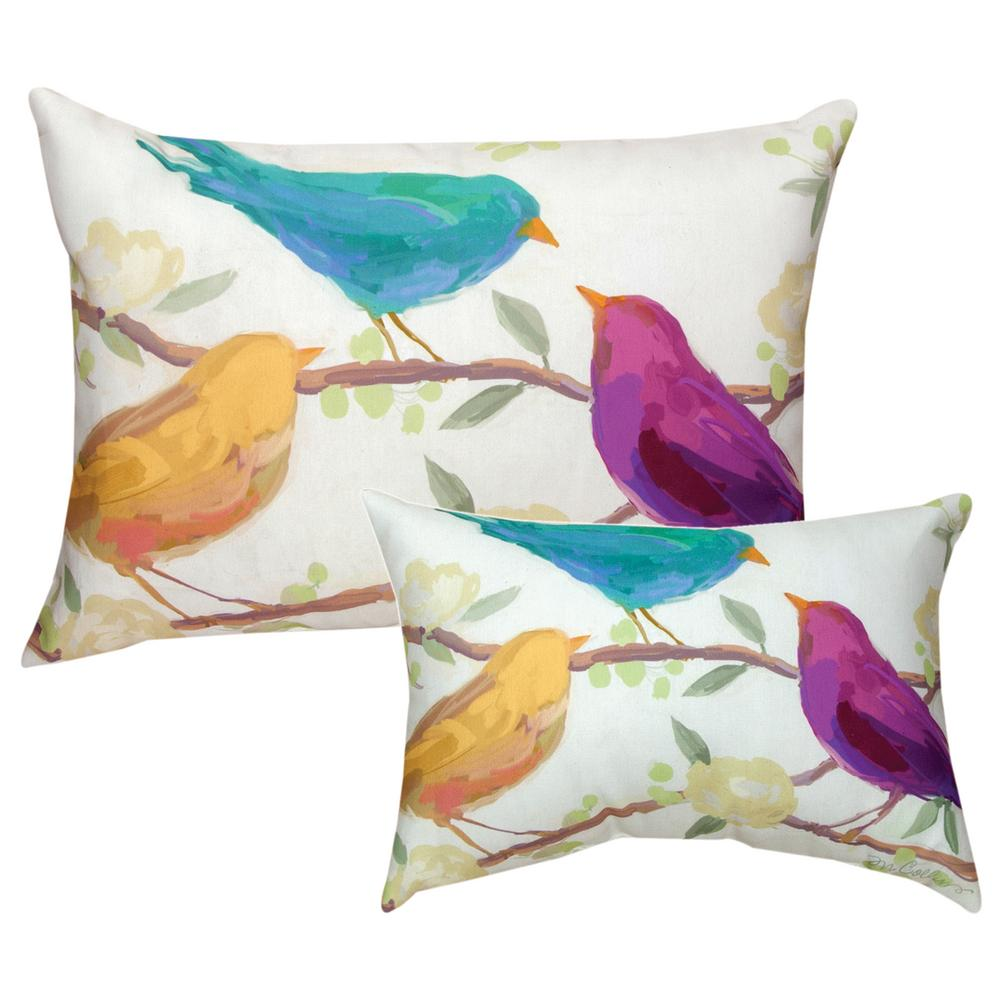Bird Song Indoor/Outdoor Throw Pillow : The Animal Rescue Site