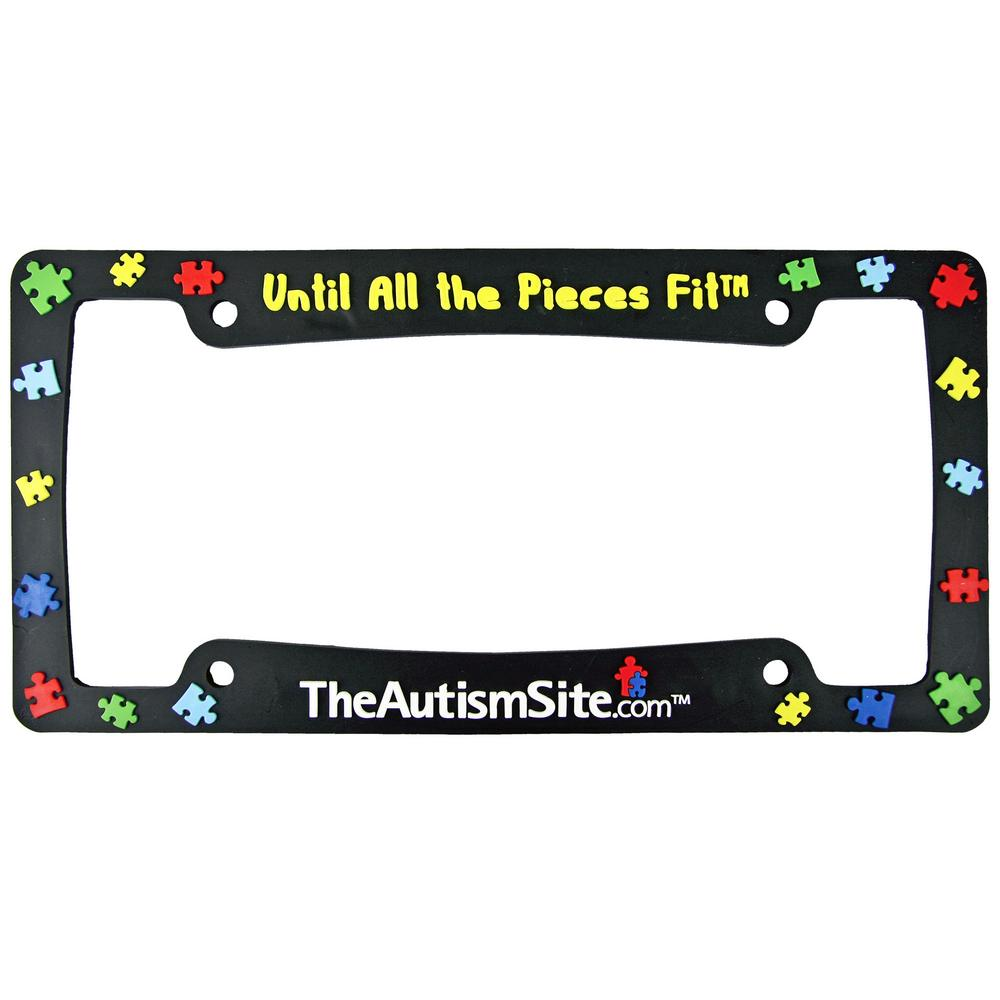 Until All The Pieces Fit™ License Plate Frame : The Autism Site