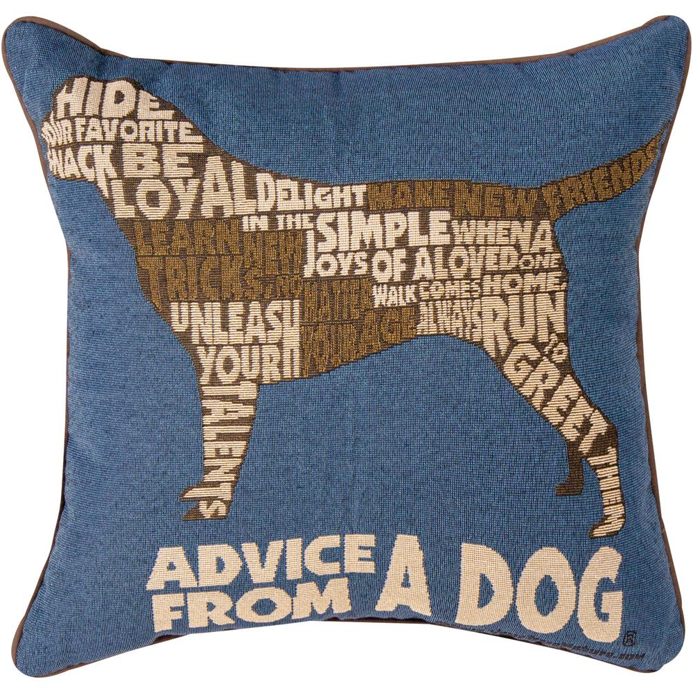 Dog Advice Tapestry Throw Pillow : The Breast Cancer Site