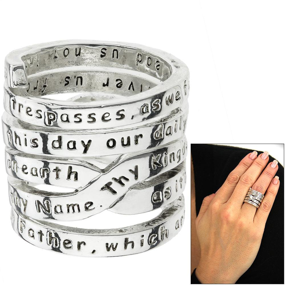 lord u0027s prayer pewter wrap ring the hunger site