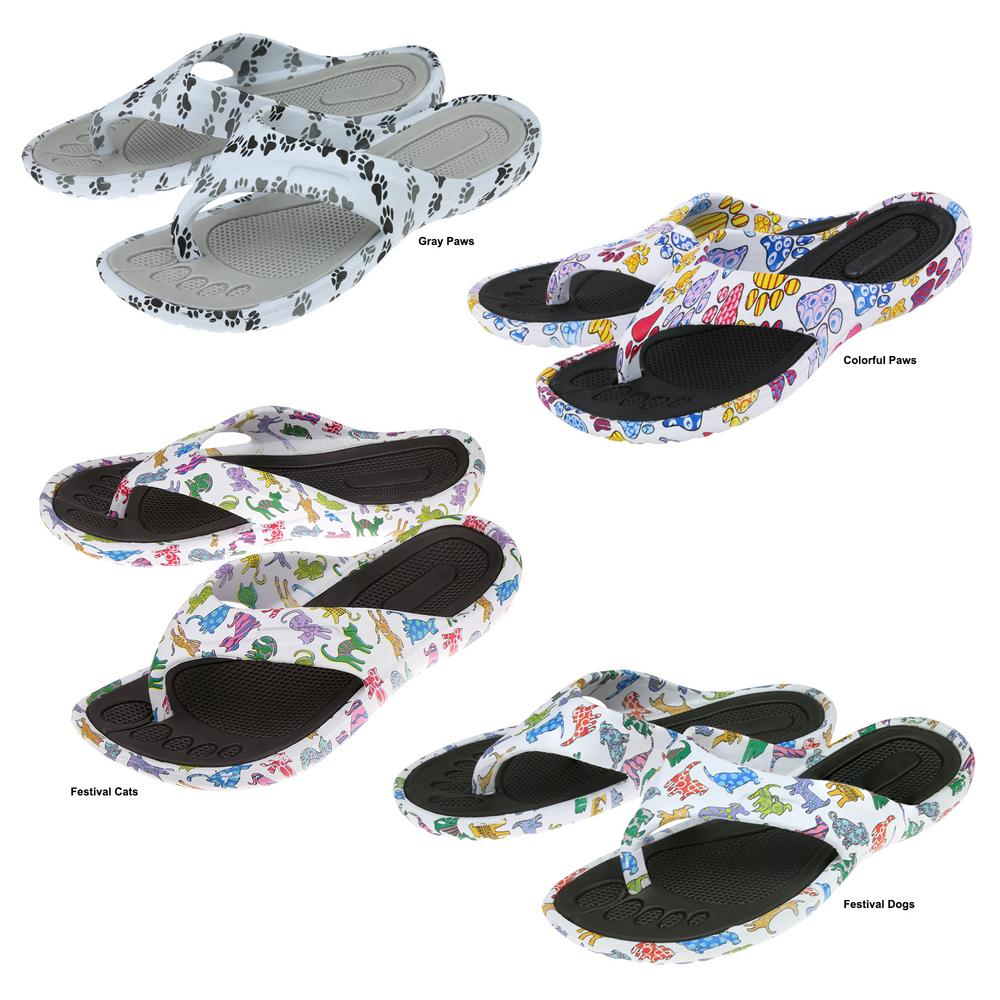 f8804d28d84892 Paws Around Town Flip Flops   The Earth Site