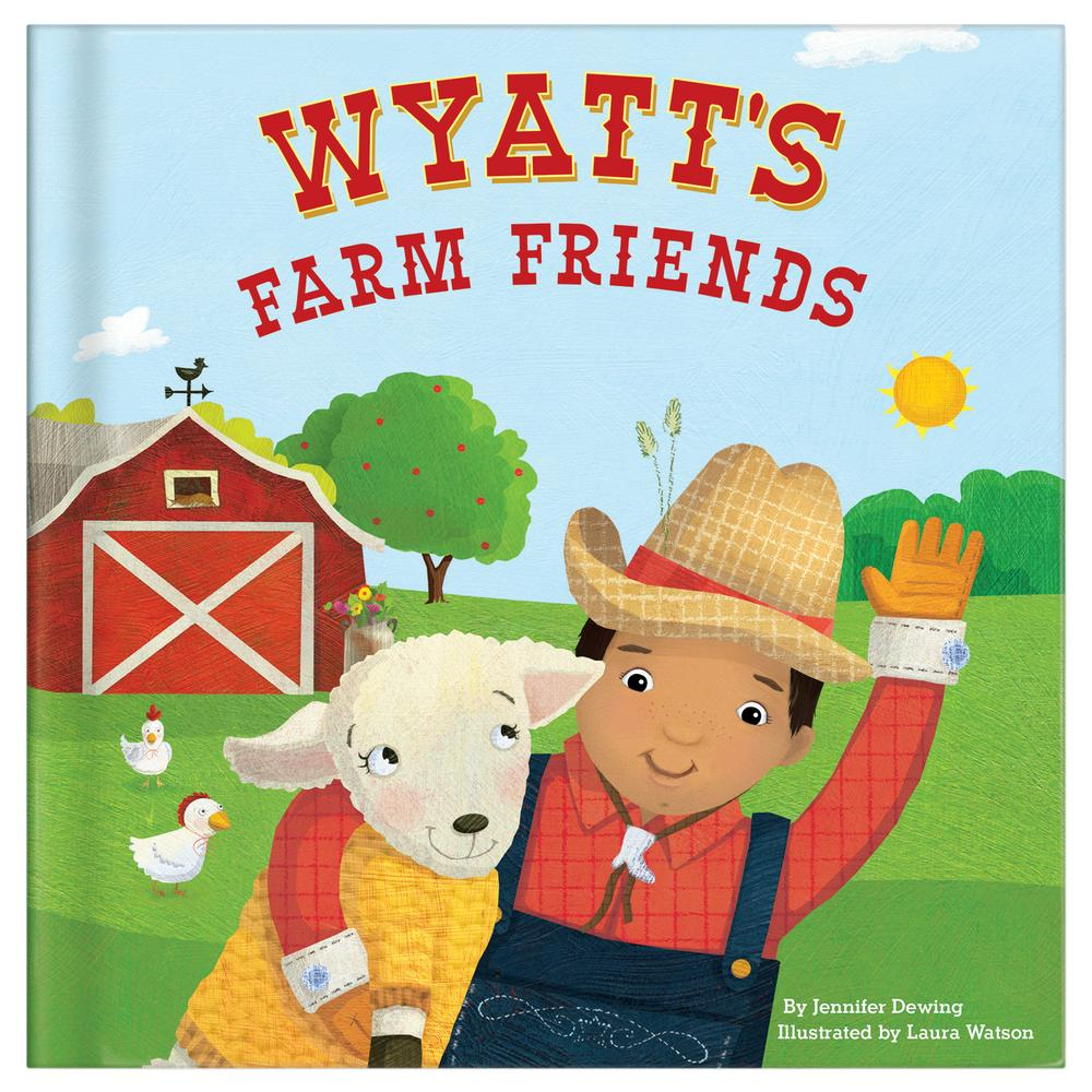 my farm friends personalized board book creative kidstuff