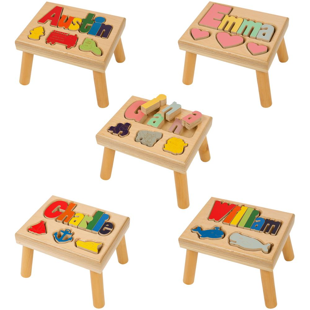 Themed Name Puzzle Stool Personalized Creative Kidstuff