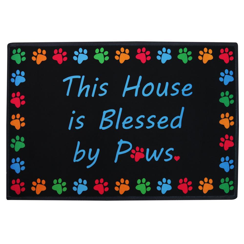 Indoor Outdoor Garden Supply Blessed by paws indooroutdoor mat the animal rescue site tap workwithnaturefo
