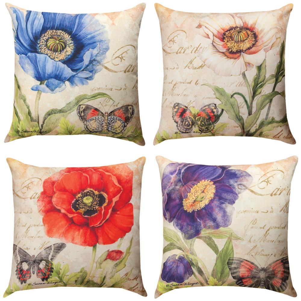 Reversible Animal Pillow : Harlequin Floral Reversible Throw Pillow : The Animal Rescue Site