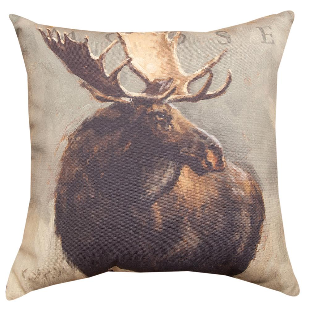 Throw Pillow Website : Scenic Moose Throw Pillow : The Animal Rescue Site