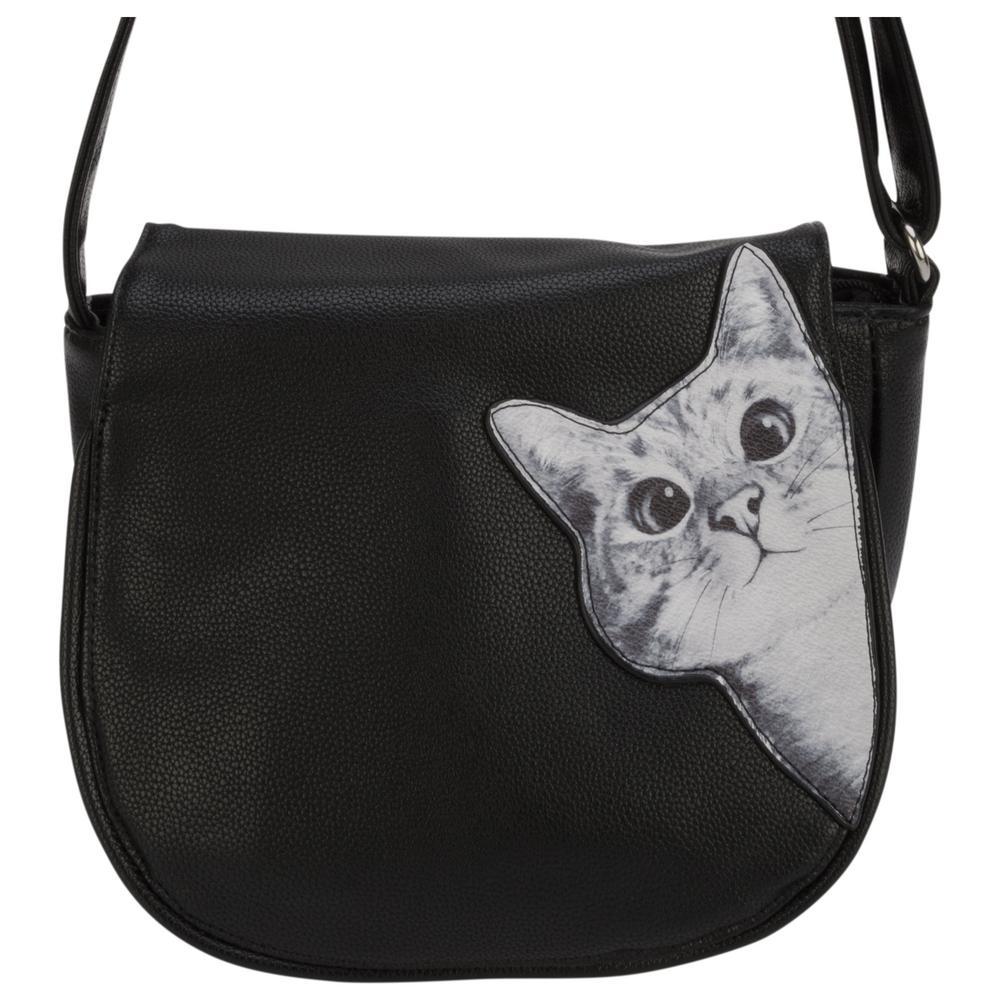 Peeking Cat Shoulder Bag   Creative Kidstuff a1e62f3d2da4f