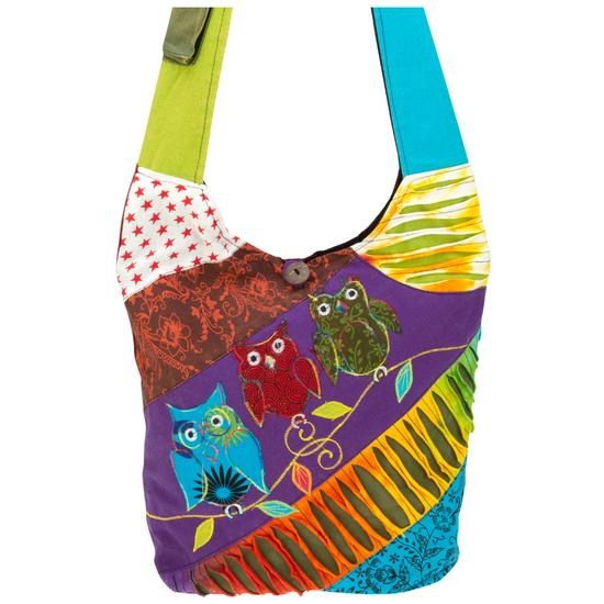 dab5b80d2e4a Patchwork Owl Hobo Bag
