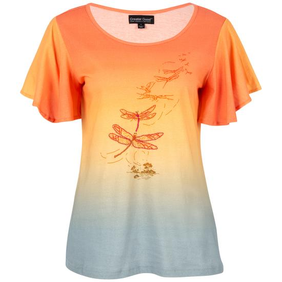 cec7e35f6f4d Sunset Flight Ombre Flutter Tee